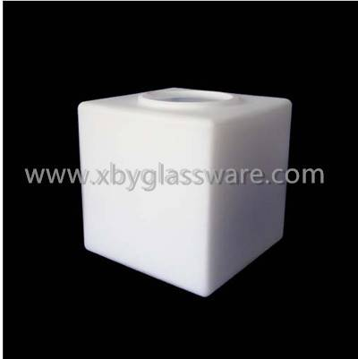 Square blown lamp cover for lighting