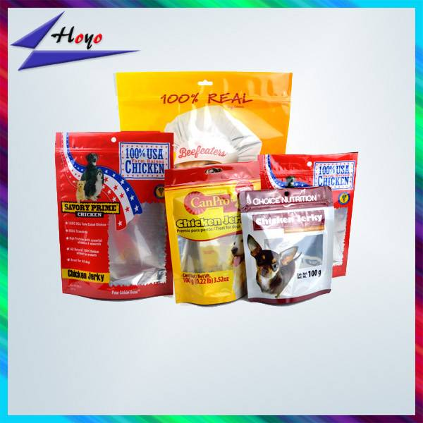 High quality plastic ziplock bags for pet food packaging