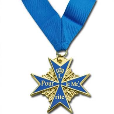 imitation enamel medal, customized medal with ribbon