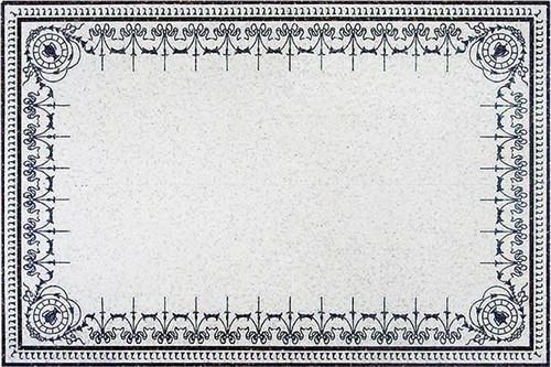 White Crabapple Marble Medallion Living Room Carpet