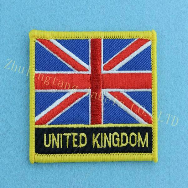 popular and high quality flag embroidery patches
