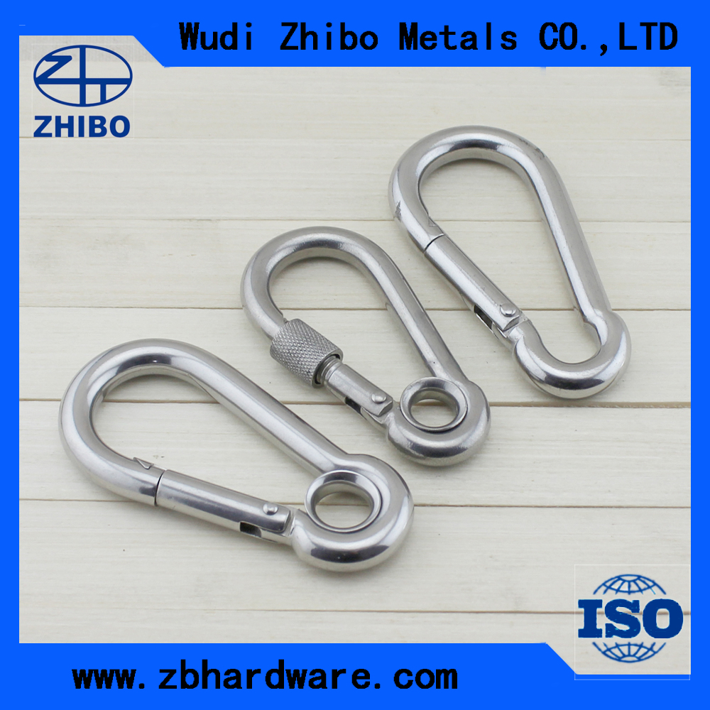 High Quality Stainless Steel 304/316 Snap Hooks DIN5299C Spring Hook Carabiner