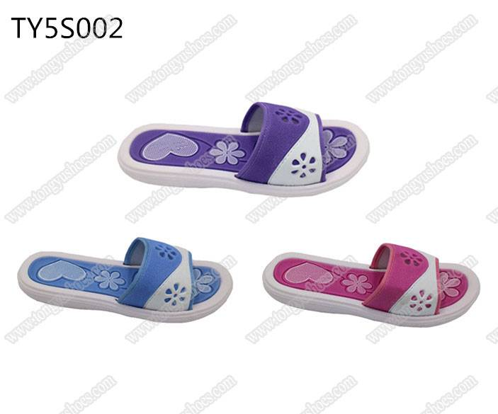 fashion flower upper ladies soft sole spa sandals