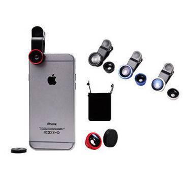 Camera Kits FishEyes + Wide Angle + Macro Selfie Lens for Cell Smart Phone Pad,iphone6 ,ipad,