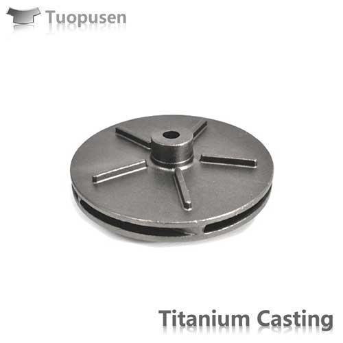 Titanium Lost wax Castings Ti casting Impeller casting ASTM B367 Gr2