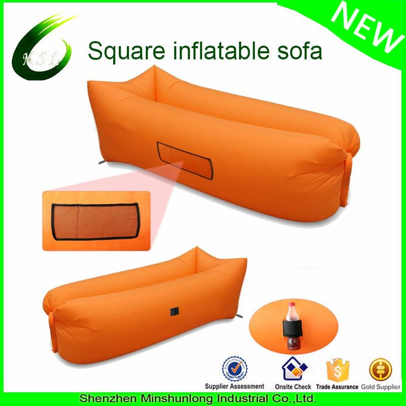 Hot New Fast Inflatable Hiking Air Sleeping Bag Camping Bed Beach Hangout Lay bed Lazy Air Bag Sofa