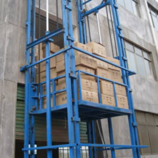 Vertical Lead Cargo Rail Lift Platform