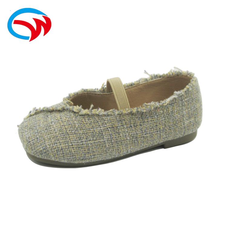 Shoe Manufacturer Korea Style Black Ballerina Girl Shoes