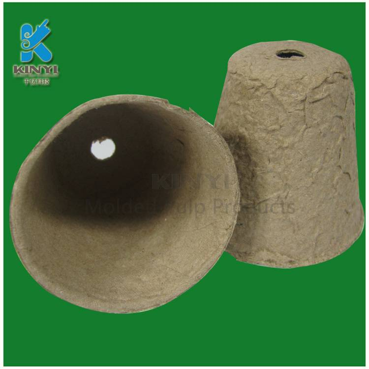 Biodegradable multi purpose fiber pulp small flower pot