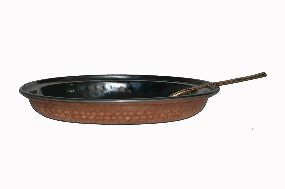Raghav India 100% Genuine Copper Plate+Copper Spoon