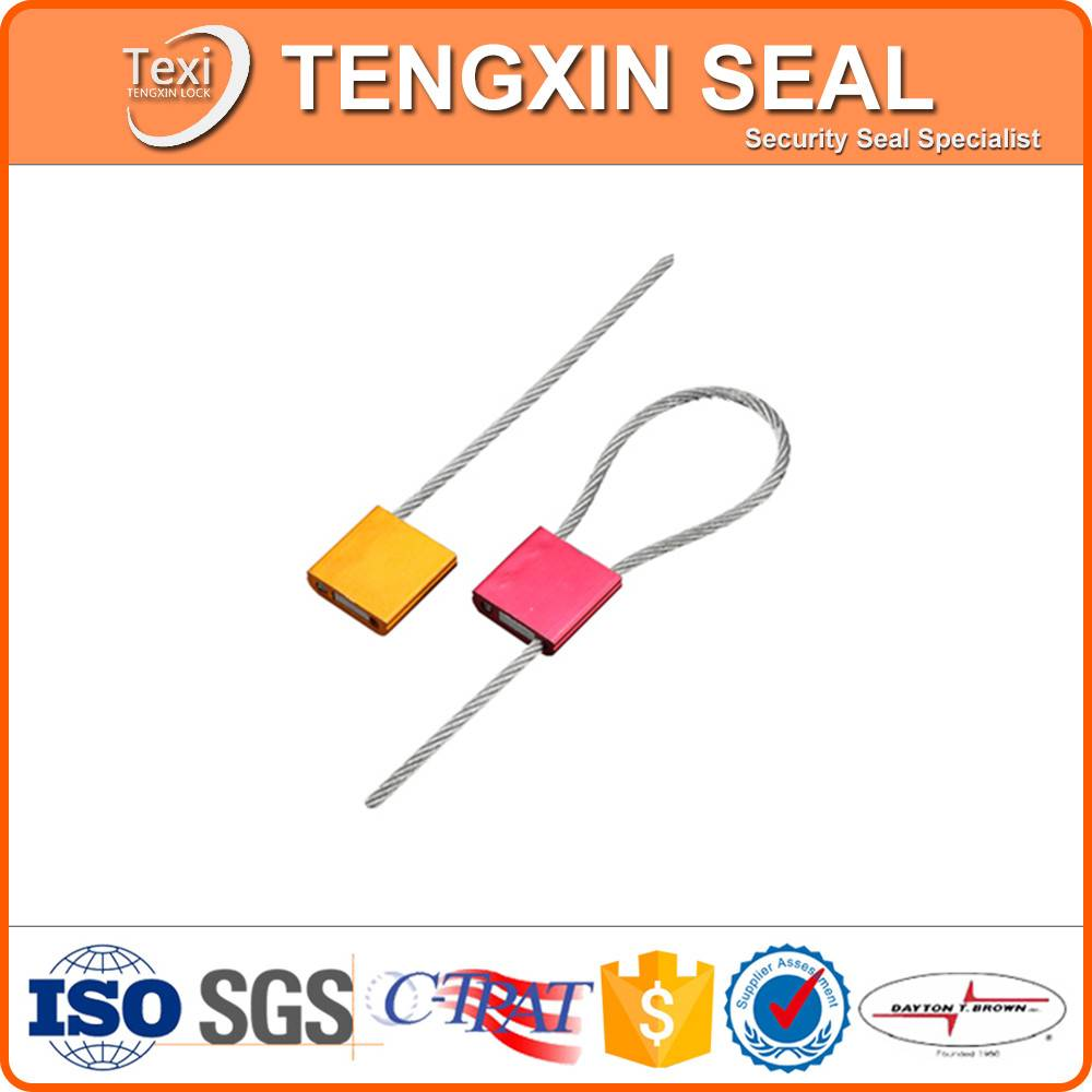 High Security Pull Tight Aircraft Cable Seal Lock