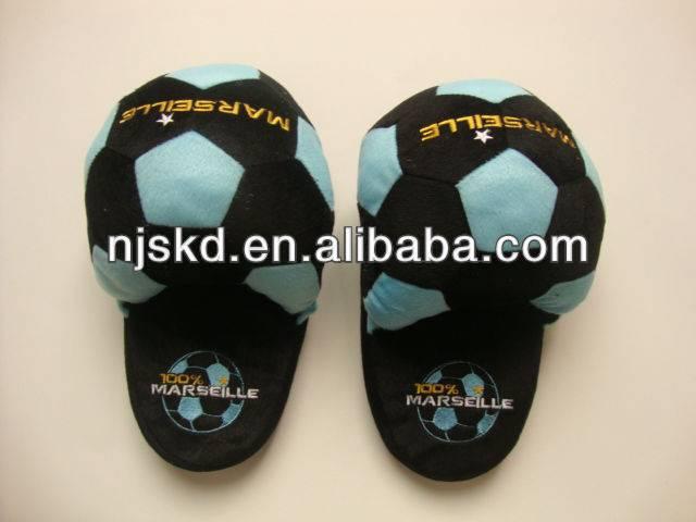 plush football indoor slipper
