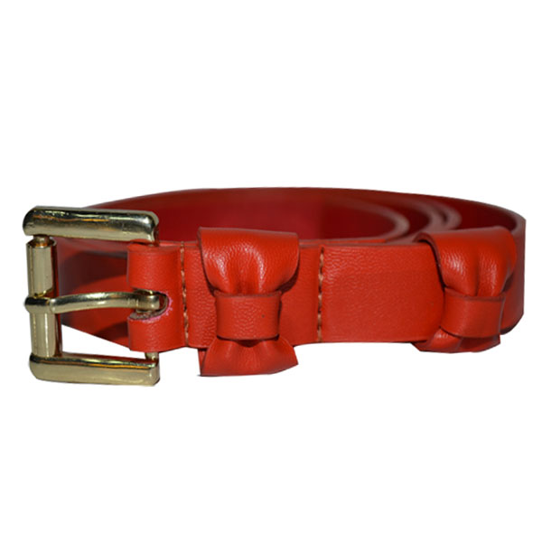 Ladies Belt with Designer Bowknot Loop [JB17171-1-WB]