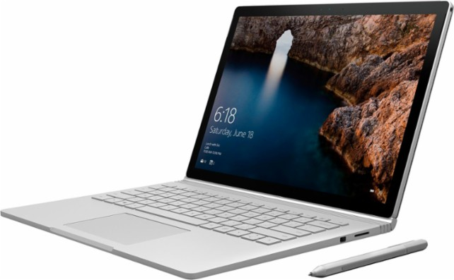 "Microsoft - Surface Book 13.5"" Touch Screen with Performance Base - Intel Core i7"