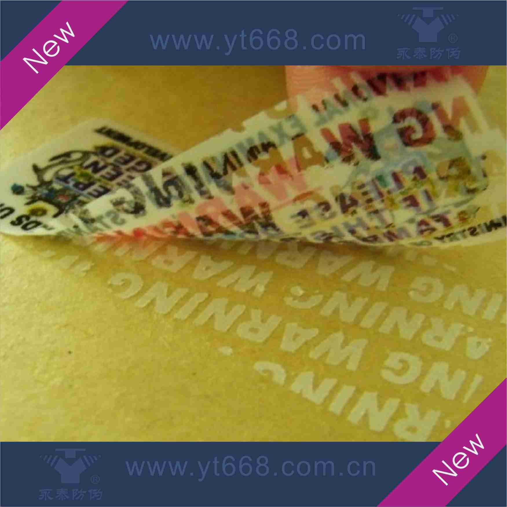 VOID tamper evident seal packing sticker
