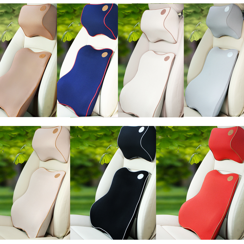 High quality memory foam backrest support&headrest pillow