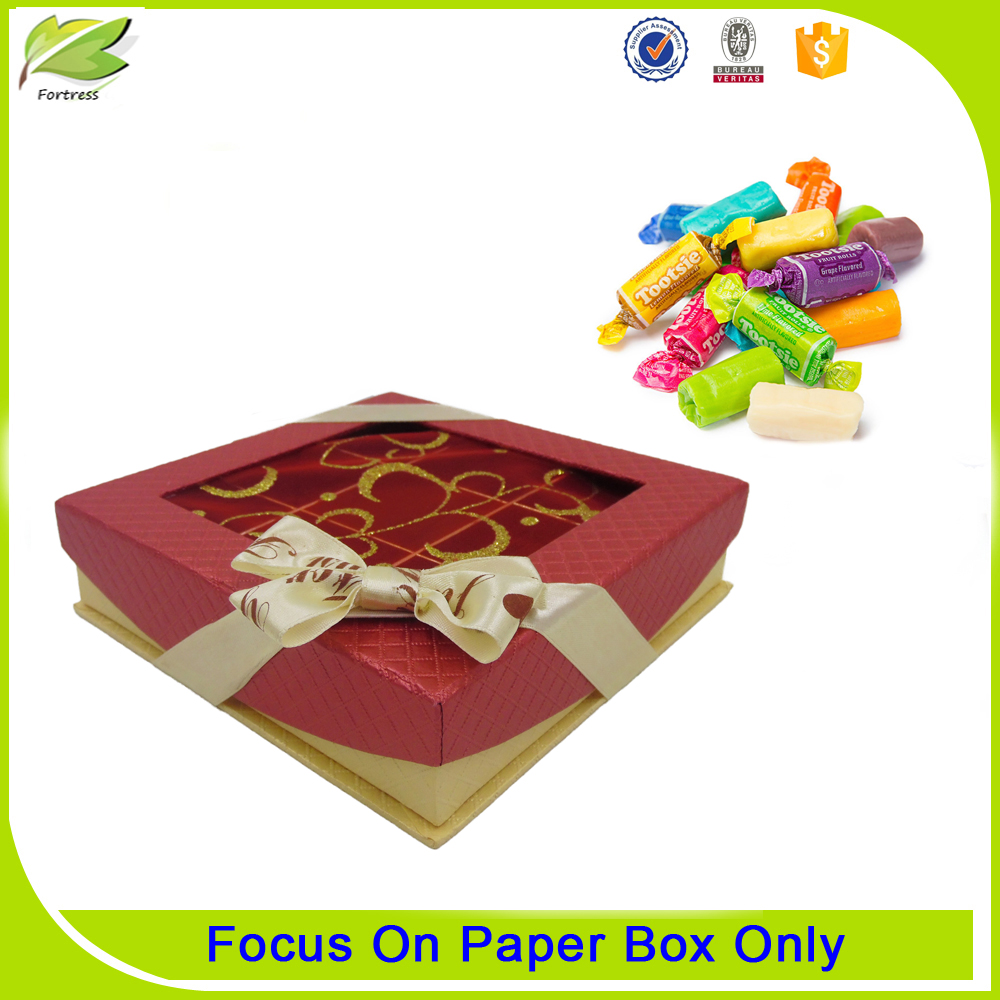 Luxury paper wedding candy packaging box
