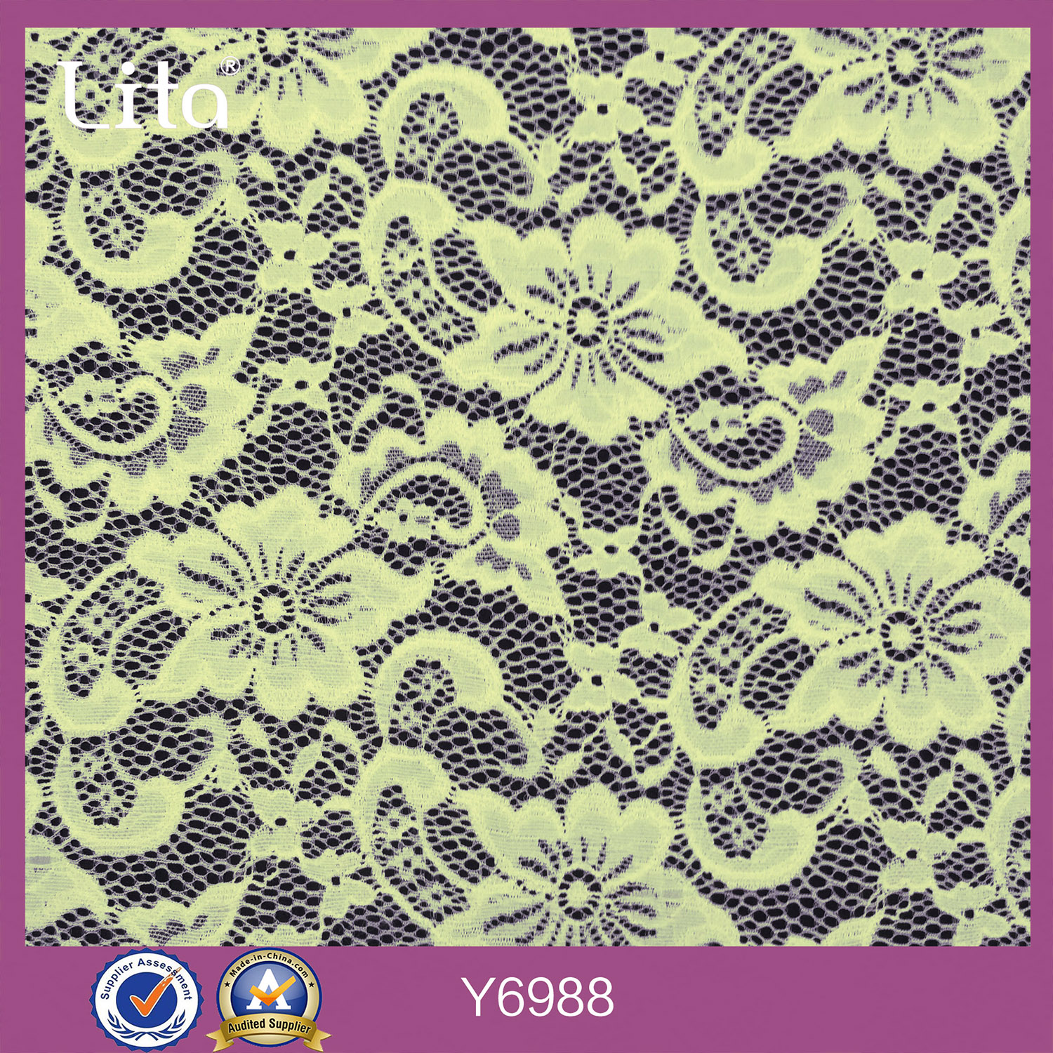 OTM 8000+ design warp knitted lace fabric