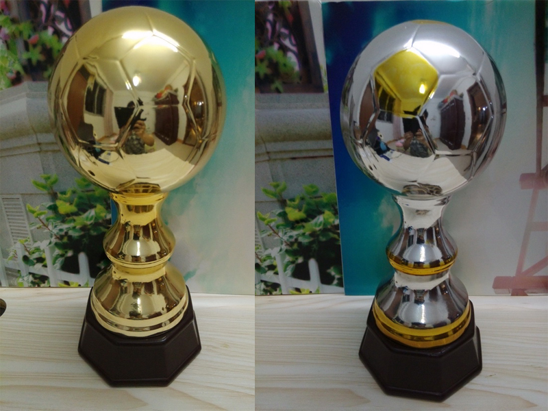 Shiny Gold ceramic soccer trophies, sports trophy, sports awards, football trophy,Recognition awards