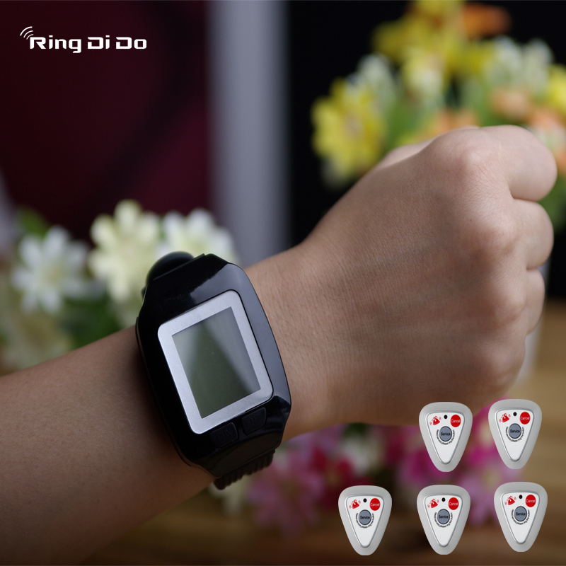 cheap pager,wireless calling pager,wrist watch be able vibrate and didi voice