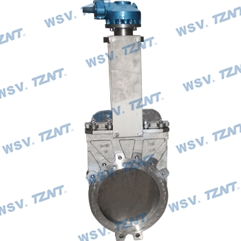 Titanium knife gate valve