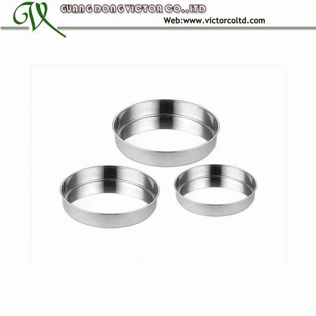 Stainless steel cake tray set