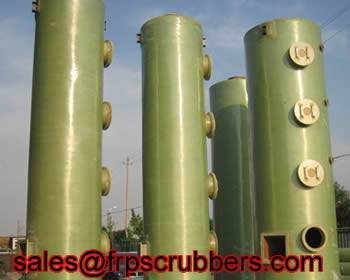 FRP spray gas scrubbers