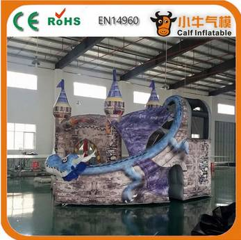 New product unique design giant commercial inflatable slide for wholesale