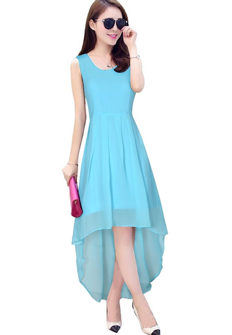 Sky Blue Flare Dress