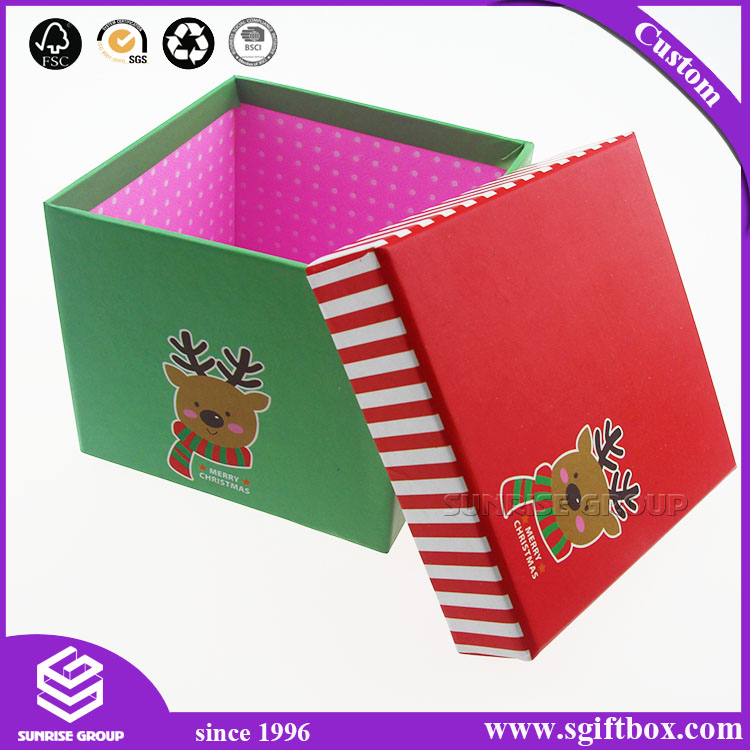 Square Simple Custom Printing Cardboard Packaging Box for Baby Christmas