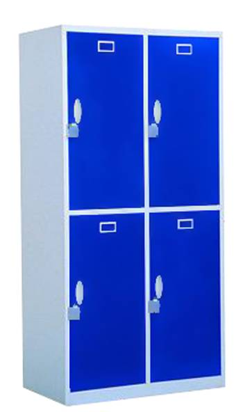 Modern design lockable 4 doors vertical steel locker
