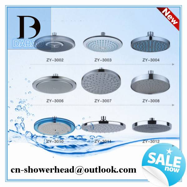Bathroom Ceiling Rain SPA Round Shower Head Rainfall and Overhead Shower