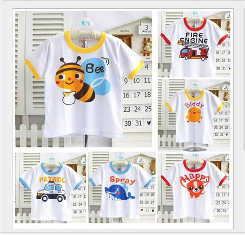 Manufacturers selling high quality 32 children combed cotton printed t-shirts