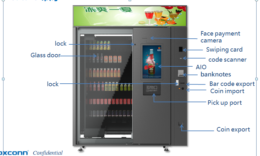 China High Quality Snack and Cold Drink Vending machine