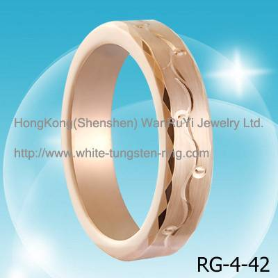 tungsten jewelry ring white gold plated