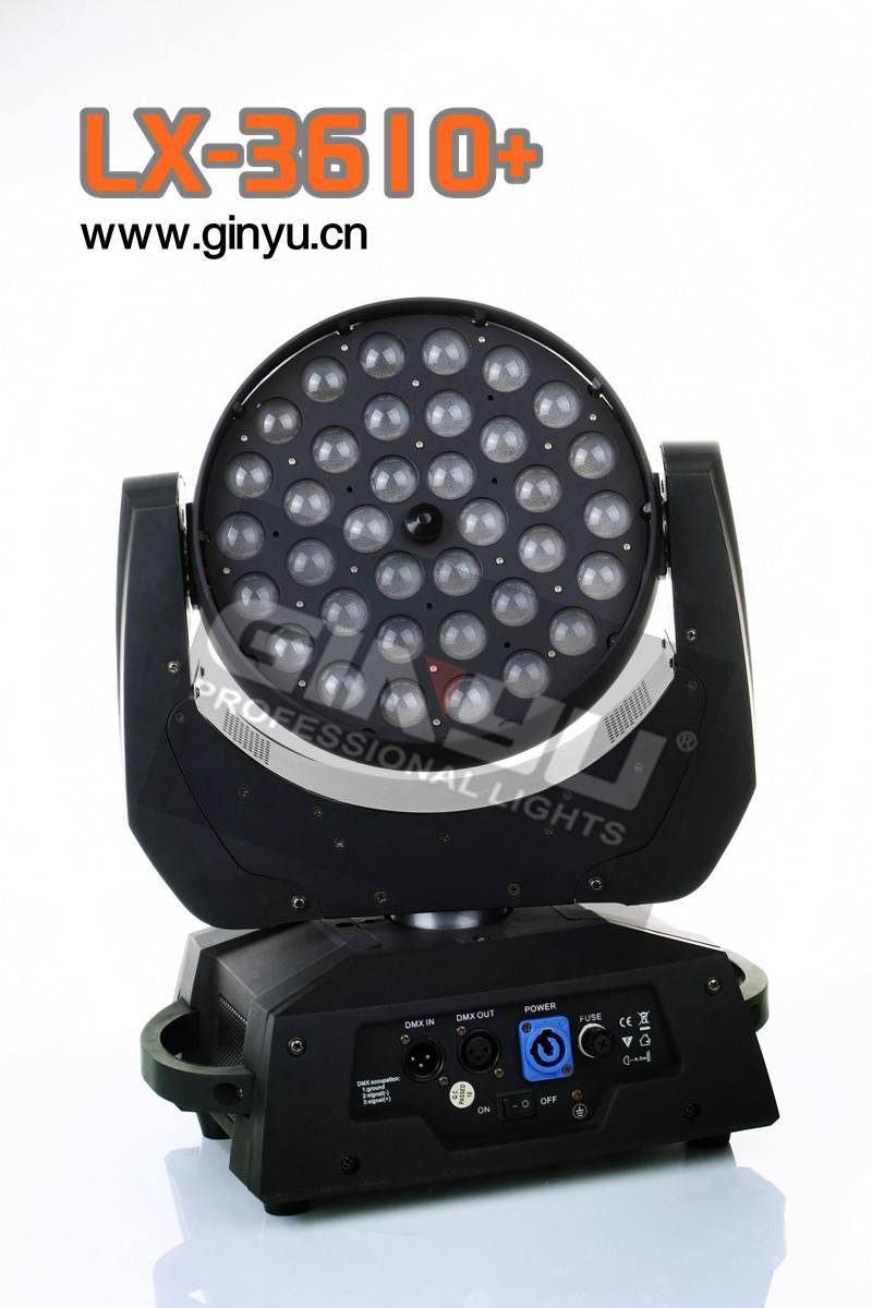 36X10 CREE LED Moving Head Wash Zoom RGBW LED Wash Light