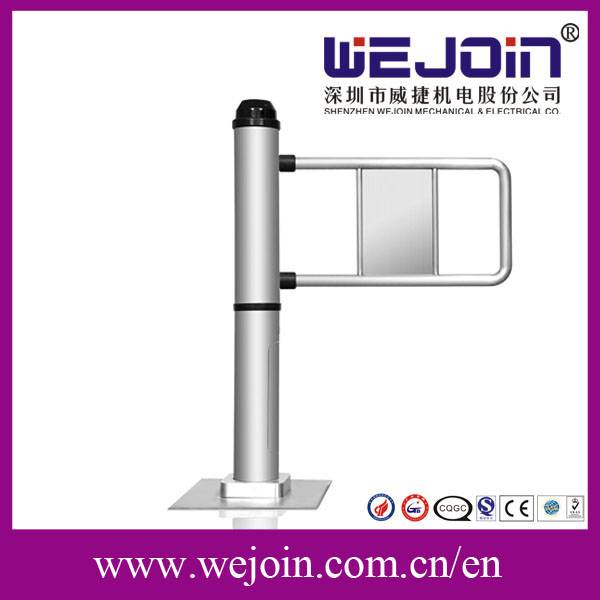 Single Pole Automatic Swing Barrier , Pedestrian Access Control Gates