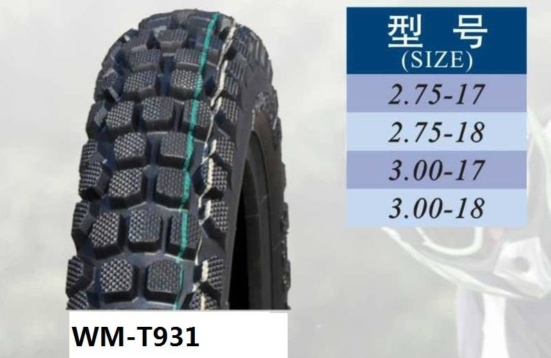 Motorcycle tire(WM-T931),tire for motorcycle,off-road tire 3.00-17