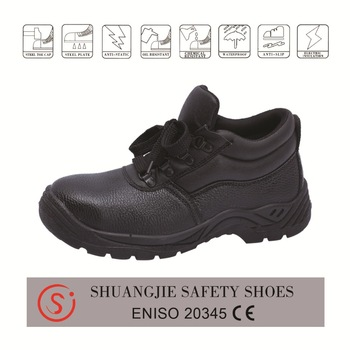 safety work shoes 9050 embossed leather pu outsole