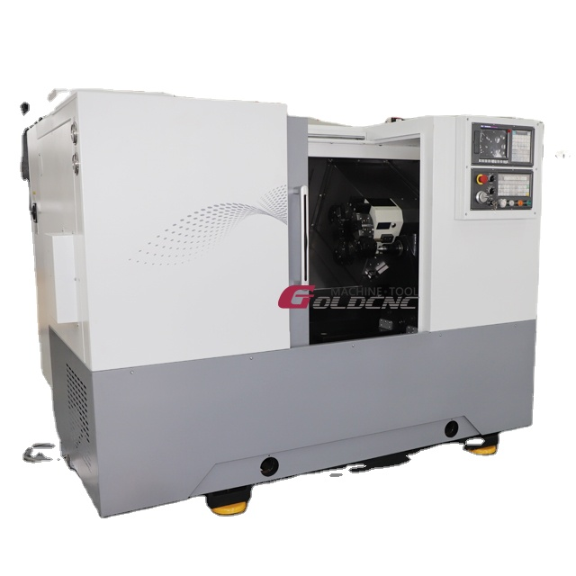 Automatic CNC lathe CK500L CNC turning center metal inclined bed