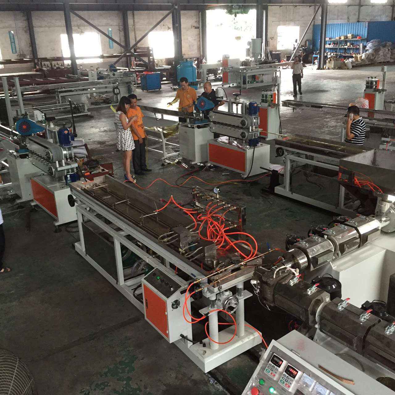 CE Certificate pvc window and door profile extrusion machine