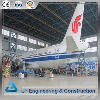 Aircraft hangar construction prefab steel space frame