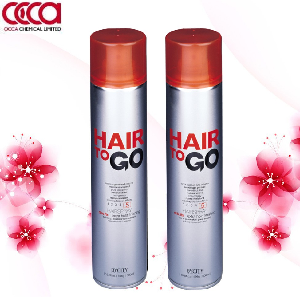 Professional salon use extra hold long lasting hair spray