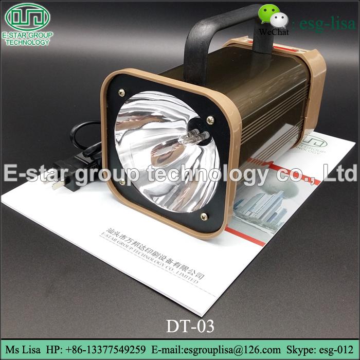 Portable hand-held digital speedometer printing stroboscope