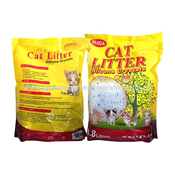 Silica gel cat litter, super absorbency, perfect odor control, dust free, less consumption