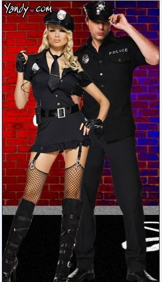 H6026 police women costume