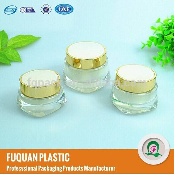 Plastic cap material and acrylic plastic type cream jar