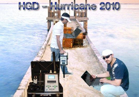 HGD-HURRICANE 2010 GPR SYSTEM GOLD AND METAL DETECTORS