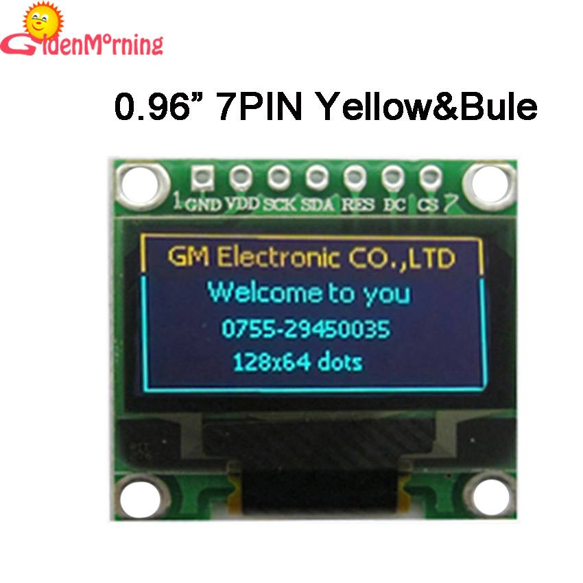 "China supply OLED display module, 0.96"", with yellow & blue colors, good prices"