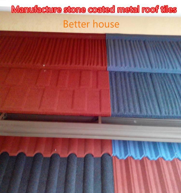 Zinc aluminum steel roof tiles